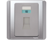 Schneider Neo 4-Pin Telephone Outlet, Cat 3, Grey Silver