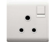 Schneider Pieno 15A 1 Gang 3 Round Pin Switched Socket, White