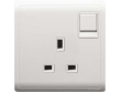 Schneider Pieno 13A 1G Switched Socket, White