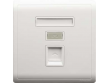Schneider Pieno 1 Gang Telephone Socket, Shuttered Wallplate, White