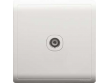 Schneider Pieno 1 Gang TV Socket, 75ohm, White
