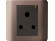 Schneider ZENcelo 15A 1g 3 Round Pin Switched Socket with Ondicator