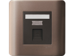 Schneider ZENcelo 1 Gang Telephone Socket on Shuttered Wallplate