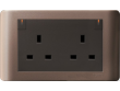 Schneider ZENcelo 13A Twin Gang Switched Socket with Ondicator