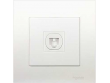 Schneider Vivace 1 Gang Telephone Outlet with Shutter, White