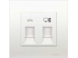 Schneider Vivace Telephone Outlet + Cat 5e Data Outlet with Shutter