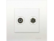 Schneider Vivace 1 Gang TV Co-Axial Outlet + 1-Gang TVF Socket, White