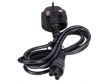 Power Cord, 3-pin, for laptops, clover leaf socket, 13A fuse