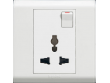 Legrand, Belanko, Multistandard Switched Socket, White